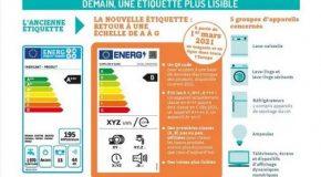 Appareils électroménagers: Nouvelle étiquette énergie à compter du 1er mars 2021
